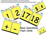 Math Basic Operations Flash Card & Manipulatives Set