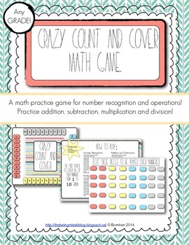 Math Basic Operations Practice Game: Crazy Count and Cover!