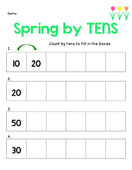 SPRING Math Basic Operations, counting, place value NO PREP packet!