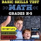 Basic Math Skills Assessment | Basic Math Test | Grades K-5