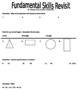 Math Basic Skills Review