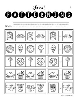 Math Basic Skills Unit for Special Education: Food Edition