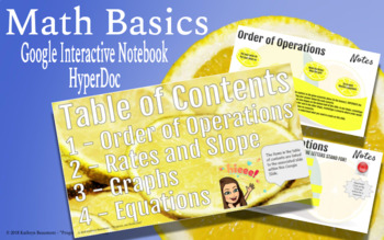 Math Basics - HyperDoc (Interactive) Notebook