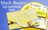 Math Basics - HyperDoc (Interactive) Notebook