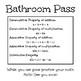 Math Bathroom Passes (Growing!)