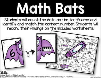 Math Bats - Ten-Frame Identification