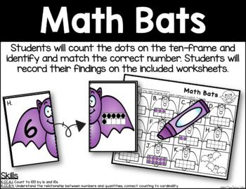 Math Bats - Ten-Frame Identification