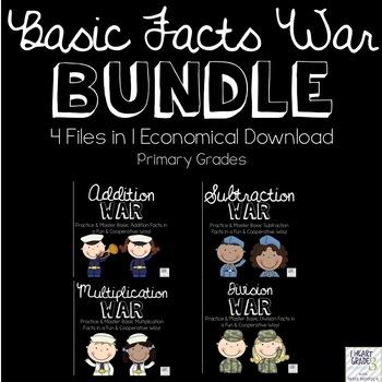 Basic Facts War Bundle