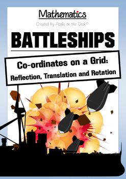 Math: Battleship Transformations! Reflection, rotation and translation.