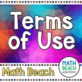 Math Beach Solutions Terms of Use Document