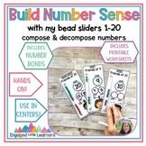 BUILD NUMBER SENSE! Math Bead Sliders for 1 to 20   Number Bonds   Hands On