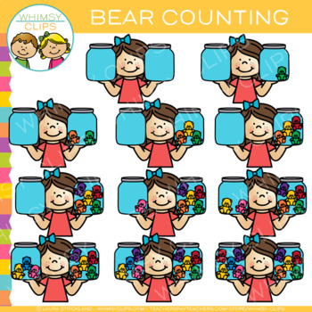 Math Bear Counting Clip Art