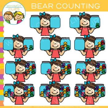 Math Bear Counting Clip Art