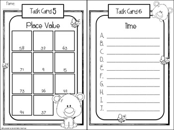 Bears & Bees: Math Task Cards