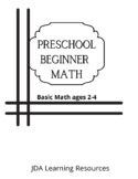 Math Beginner Workbook Ages 2-4