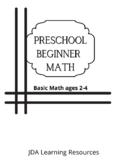 Math Beginner Workbook Ages 2-4