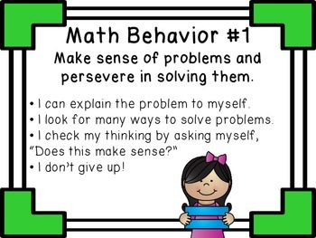 Math Behaviors: A Set of 8 Classroom Posters {CCSS Mathematical Practices}