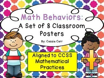 Math Behaviors: A Set of 8 Classroom Posters {CCSS Mathema
