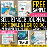 Math Bell Ringer Journal for the Entire School Year: FREE 2 Week Sample