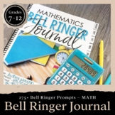 Math Bell Ringer Journal for the Entire School Year: Middl