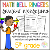 Math Bell Ringers Review Exercises 5th Grade *GROWING FILE*