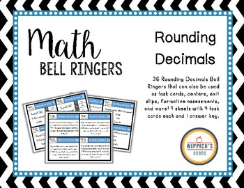 Math Bell Ringers- Rounding Decimals Task Cards