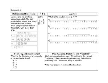 Math Bellringers for Grade 6
