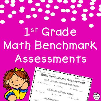 Math Benchmark Assessment Worksheets Teachers Pay Teachers