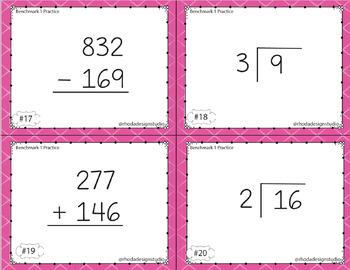 Math Dibels Benchmark Practice Task Cards
