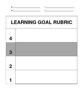 Math Benchmark Tracker and Rubric
