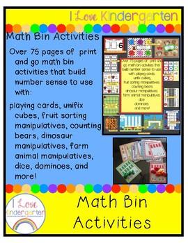 Math Bin Activities