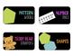 Math Bin Labels - Black or White Backgrounds