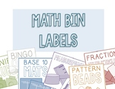 Math Bin Labels