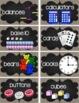Math Manipulatives Labels {Burlap & Chalk Background}