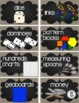 Math Bin Labels {Burlap & Chalk Background}