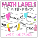 Math Bin Labels- English and Spanish