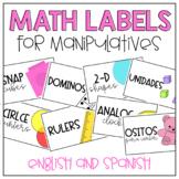 Math Bin Labels- English and Spanish
