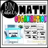 Math Bin Labels- ORGANIZATION