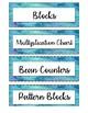 Math Bin Labels - Watercolors