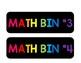 Math Bin Labels for Ikea Trofast 6 Drawer