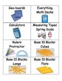 Math Bin Manipulative Labels