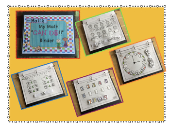 MATH Work Binder for Special Education...Colors, Shapes, Counting, Money & More