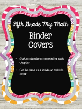 Math Binder Covers {Editable}