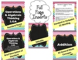 Math Binder Covers, Labels & Spines {2nd/3rd grade CCSS + 83 topics} {Editable}