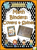 Math Binder Covers & Spines (orange and black & white polka dot)