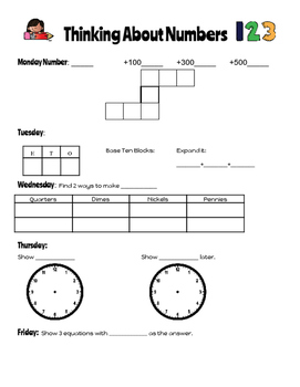 Math Binder: Number Sense, Problem Solving, Math Talk, and More!