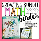 Math Binder Sheets/ Math Station Games