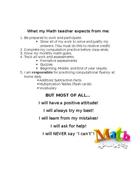 Math Binder Syllabus