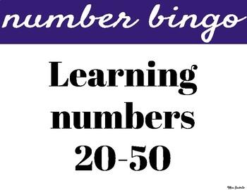 Number Bingo 20-50