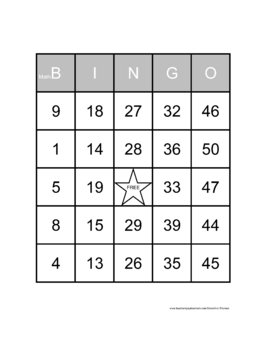 Math Bingo:  2, 3, and 4 Digits By 2 Digits Division